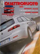 Quattroruote 605 2006 Come vanno Alfa 159 SW e Audi Q7. VW Crosspolo [Q.10]