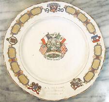1920s-World War I-Commemorative Plate-Advertising Optometrist-Pittsburgh,Ks -Xlnt