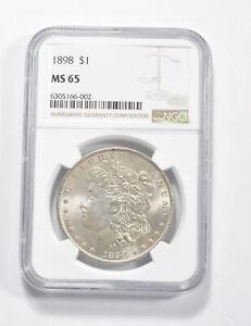 MS65 GRADED - 1898 Morgan Silver Dollar- NGC *271