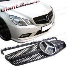 SL Look Front Grille Matte Black For 10-13 C207 E250 E500 Coupe Convertible 2DR