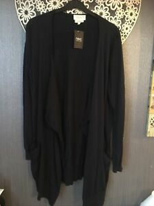 Next Navy Blue Long Waterfall Cardigan New Size 14 Soft Touch Fine Knit Open