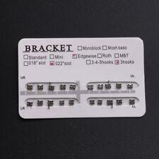 Orthodontic Dental Metal Brackets Braces Edgewise 022