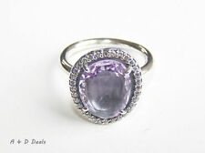 PANDORA Silver Plated Amethyst Fashion Rings