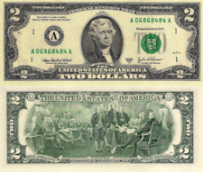 """USA, $2 Dollars Comm., Federal Reserve Bank of Boston """"A"""", P516b, 2003A, UNC"""