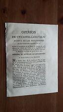 Opinion de un Castellano Viejo..Sevilla 1808-Guerra de la Independencia Española