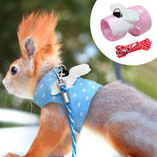 Small Animal Harness and Leash Set Guinea Pig Ferret Hamster Squirrel Clothes