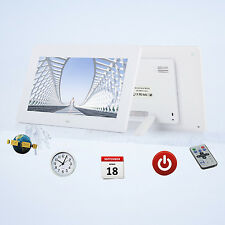 """10"""" Digital Photo Frame LED Backlight Picture Video Player Remote Control WHI UK"""