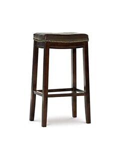 "Linon Claridge 32.5"" Wood Bar Stool in Bronze"