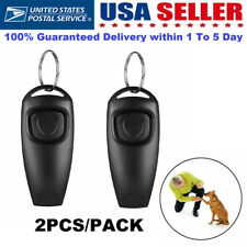 1/2 Pet Puppy Dog Clicker & Whistle - Training Obedience Agility Trainer Click