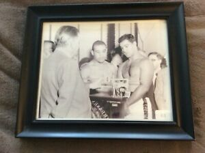 ROCKY MARCIANO & JOE LOUIS AT THEIR WEIGH-IN B/4 THEIR FIGHT.FRAMED