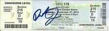 Demetrious Johnson Signed UFC 178 Full Ticket PSA/DNA COA & Conor McGregor Fight