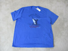 NEW Ralph Lauren Chaps Shirt Adult 2XL XXL Blue Red Fishing Tournament Mens