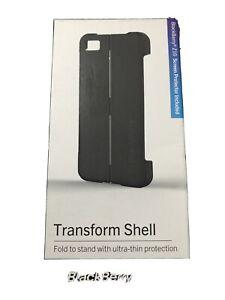 Genuine Original BlackBerry Z10 Black Transform Shell Case Cover Retail Boxed