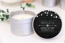 Personalised Soy Candle Tins Wedding /Birthday Favours Bomboniere. Chalkboard