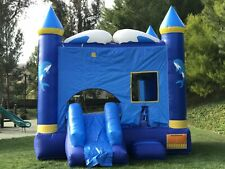 Commercial Grade Inflatable Bounce House Dolphin Combo Slide 100% PVC Vinyl