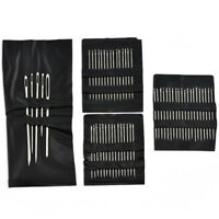 55 PCS / Set Stainless Steel Sewing Needle Mending Embroidery Craft ~