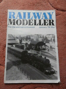 Railway Modeller Magazine January 1978 Used but in good condition for age