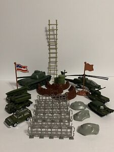 Lot of Army Play Plastic & Metal Vehicles