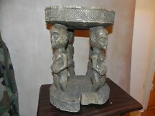 "Arts of Africa - Bakongo Stool - DRC - Congo - 16"" Hight x 12"" Wide x 38"" Cir"