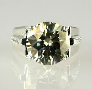Huge Champagne Diamond Solitaire Men's Heavy Setting Ring 11.75 Ct Wedding Gift