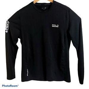 POLO Sport PSXV Ralph Lauren Black Long Sleeve Performance T-Shirt Sz L