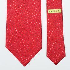 BVLGARI TIE Bulgari Polka Dot on Red Classic 7-folded Silk Necktie