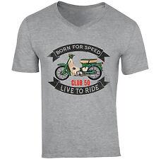 HONDA Club 50-NUOVA cotone grigio V-Neck T-shirt