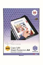 50 Pack – A4 Heavy Duty Sheet Protectors Ultra Clear Marbig 25100S