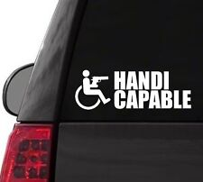 H135 HANDI CAPABLE HANDICAP WHEELCHAIR  DECAL CAR TRUCK  LAPTOP SURFACE ART