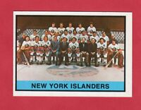 1974-75 OPC O PEE CHEE  # 307 New York Islanbders Team  nrmnt
