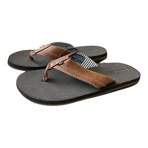 Nautica Men's Slip On Faux Leather Clarkson Flip Flop Sandals, Brown