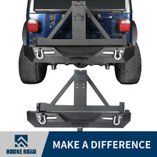 1997-2006 Jeep Wrangler TJ Rock Crawler Rear Bumper with D-ring & Tire Carrier