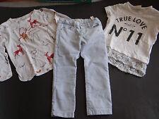 ZARA Girls Tolle 3tlg.Kombi Jeans+Shirts Gr.3-4/104