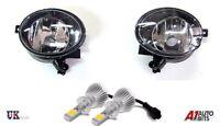 VW GOLF MK6 6 TOURAN JETTA TIGUAN EOS CADDY FOG LIGHTS LIGHT LAMP PAIR + HB4 LED