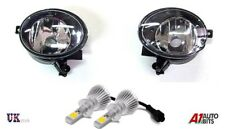VW GOLF MK6 6 TOURAN JETTA TIGUAN EOS CADDY FOG LIGHTS LIGHT LAMP PAIR + HB4 LED