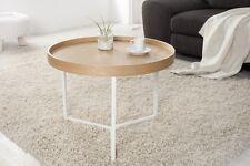 Tavolino da salotto TRITON 60cm natura bianco Retrò Design Vassoio Tavolo NUOVO