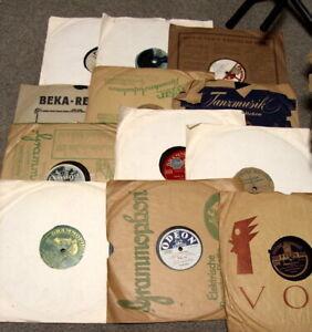 großes Konvolut alte Grammophonplatten Schellackplatten