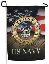 Navy Eagle Sublimated Garden Flag