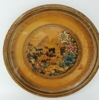 Vintage Souvenir German Füssen in the Allgäu Wood Plate 1950s