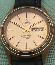 CIRCA1970'S OMEGA AUTOMATIC SEAMASTER COSMIC 2000 DAY DATE SWEEP SECS WRISTWATCH