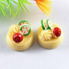 10PCS Resin Yellow 3D Cake Dessert Flatback Decor Jewelry Accessory Crafts 52142