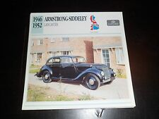1946 - 1952 Armstrong-Siddeley Lancaster Car Photo Spec Sheet Stat Info CARD