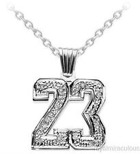 Personalized Diamond Number Plate Necklace  Sterling Silver