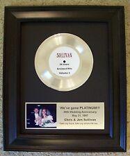 Personalized Platinum 45 Record Album Award to Customize Custom Plaque Trophy