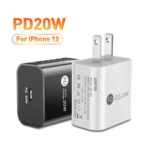For iPhone 12 Pro Max iPad 11 20W PD USB Type-C Fast Wall Charger Power Adapter
