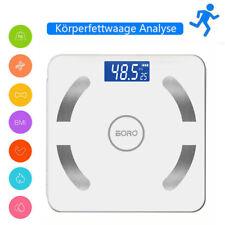 Bluetooth Personenwage APP Körperwaage Fitnesswaage Gewicht BMI Analyse 180kg