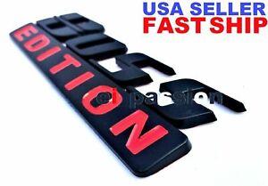 BOSS EDITION Black Fit All Cars & Truck Logo CUSTOM EMBLEM Quality Funny Bumper