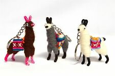 Llama Alpaca Keychain Andean Collectible Handcrafted Miniature Figurine