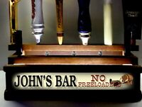 Personalized NO FREELOADERS 11 beer tap handle display LED LIGHTED