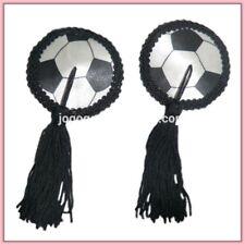 Foot ball FIFA Women's Nipple Covers Tassel Pasties Covers  Bra Lingerie round